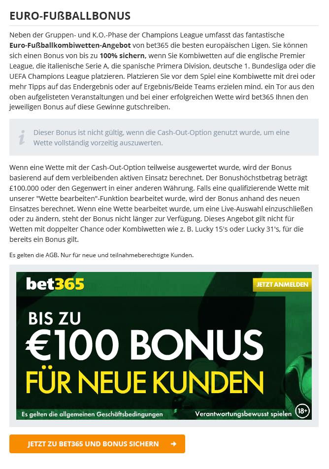 online wetten bonus